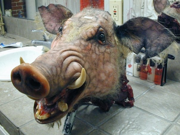 Boar's head used in Otep's live performances